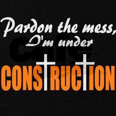 christian under construction | christian_under_construction_maternity_dark_tshir.jpg?color=Black ...