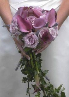 Bouquet sposa viola e lilla