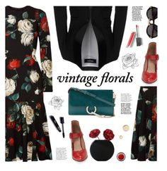"""""""Smell the Roses: Vintage Florals"""" by tamara-p ❤ liked on Polyvore featuring Dsquared2, Dolce&Gabbana, Miz Mooz, Chloé, Cartier, Burberry, John Lewis, Givenchy, vintage and vintageflorals"""