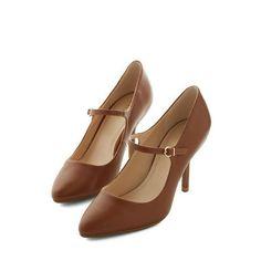 Reuniting with Friends Heel in Chestnut | Mod Retro Vintage Heels | ModCloth.com