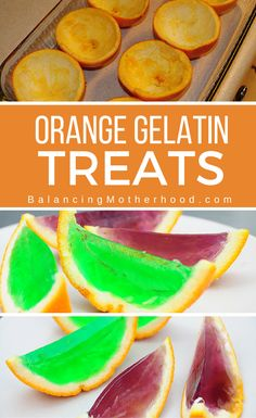 Make jello orange slices for your next party! Kids LOVE them.