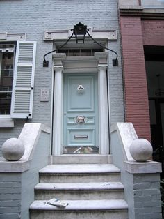 front door painted in benjamin moores palladian blue - Google Search