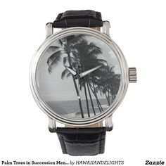Palm Trees in Succession Men's Vintage Watch