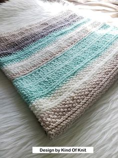 KNITTING PATTERN: Tide Pools Knitted Baby Blanket. Receiving   Etsy Knitted Throw Patterns, Free Baby Blanket Patterns, Easy Knitting Patterns, Loom Knitting, Baby Knitting, Cowl Patterns, Knitting Ideas, Baby Patterns, Knitting Projects