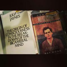 Critical reads right now.  #TheOriginOfConsciousnessInTheBreakdownOfTheBicameralMind #JulianJaynes #LudwigWittgensteinTheDutyOfGenius  #RayMonk #Philosophy #Psychology #CognitiveScience #Linguistics #MakeYourOwnHistory #Motivation #Everyday #Discipline #Willpower #Persistence #Art #Music #Writing #Film #Master #iKreate #Vacarme #Noir