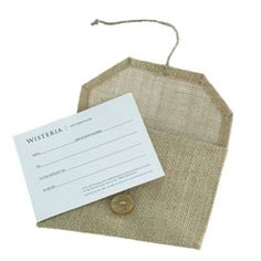 Make handmade envelopes from vintage linens