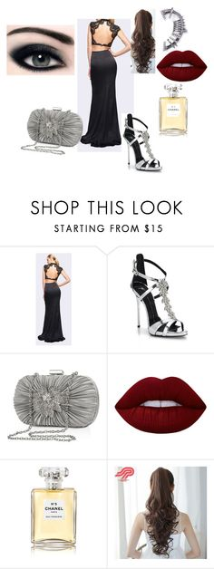 """Elegant Gala"" by belen-lillo on Polyvore featuring moda, Fame & Partners, Giuseppe Zanotti, Jessica McClintock, Lime Crime, Chanel y Pin Show"