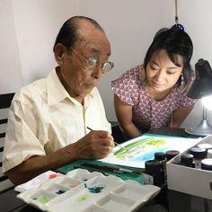 Meu pai e suas lindas aquarelas...