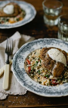 Pan Roasted Red Snapper with Summer Couscous