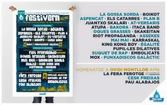 Diari Valldigna: Ja tenim cartell del Festivern 2015-2016! Rap, King Kong, Periodic Table, How To Plan, Concerts, Musica, Daily Journal, Band, Periotic Table