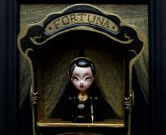Fortuna  the fortune teller machine  miniature art by KarolinFelix