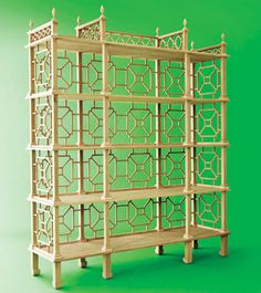 Chinoiserie by Kristen Buckingham. add fretwork to my gold bamboo shelves? Asian Furniture, Painted Furniture, Home Furniture, Furniture Design, Vintage Furniture, Asian Books, Style Asiatique, Chinoiserie Chic, Asian Decor