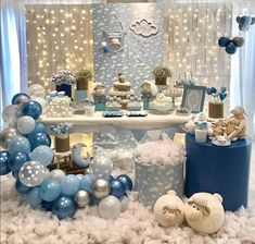 52 the basic facts of baby shower decorations ideas for boys 24 52 the basic facts of baby shower decorations ideas for boys 24 aesthetecurator Baby Shower Decorations For Boys, Boy Baby Shower Themes, Baby Shower Balloons, Baby Shower Gender Reveal, Baby Shower Parties, Baby Boy Shower, Cloud Baby Shower Theme, Deco Baby Shower, Baby Shower Winter