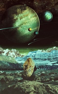 Surreal Mixed Media Indie Landscape Collage Art by Ayham Jabr.