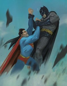 Superman vs Batman by Joe Kim