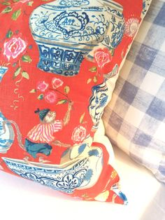 Wonder who these fabrics are by? Love them both…
