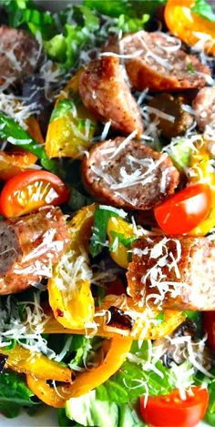 kiesel sausage and peppers salad recipe dishmaps sausage and peppers ...