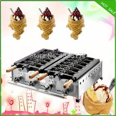 (1330.00$)  Watch now - http://aibrm.worlditems.win/all/product.php?id=32326616502 - free shipping gas model 2 plate 10pcs per time LGP ice cream taiyaki machine open mouth taiyaki machine