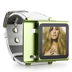 Wrist Watch Style Protective Case with Band for iPod Nano 6 (Green) - Free shipping - Zufal.com