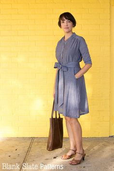 Transitional weather dress - Marigold Sewing Pattern by Blank Slate Patterns