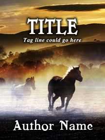 Gallop Across the Plains - Western Horse - Customizable Book Cover  SelfPubBookCovers: One-of-a-kind premade book covers where Authors can instantly customize and download their covers, and where Artists can post a cover and name their own price.