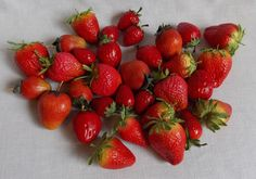 Lot of 33 Faux Strawberries Red Artificical Fruit #Unbranded