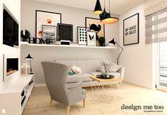 Salon styl Skandynawski - zdjęcie od design me too - Salon - Styl Skandynawski…