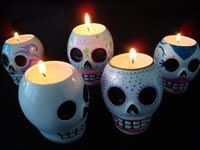Sugar Skull Candle Holders