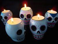 Sugar Skull Candle Holder.