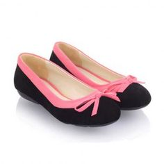 $17.98 Sweet Casual Women's Spring Flat Shoes With Suede Color Matching Design