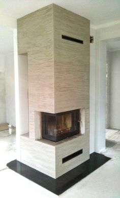 Modern Fireplace, Living Room With Fireplace, Fireplaces, Sweet Home, House, Home Decor, Fireplace Set, Log Projects, Dining Rooms