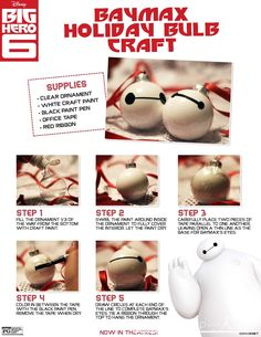Baymax ornaments. This is one DIY that I've decided to actually try.