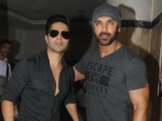 Varun Dhawan and John Abraham are busy promoting their upcoming release 'Dishoom'. Recently the duo were seen at Fever 104 FM. Interacting