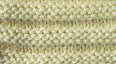 Encyclopédie des points de tricot. LE POINT MOUSSE ALTERNE