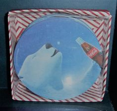SET OF 12 COASTERS COCA COLA BEAR CR GIBSON NEW IN BOX