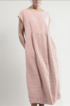 Linen Dresses, Cotton Dresses, Casual Dresses, Cheap Dresses, Maxi Dresses, Types Of Sleeves, Dresses With Sleeves, Short Sleeves, Mode Cool