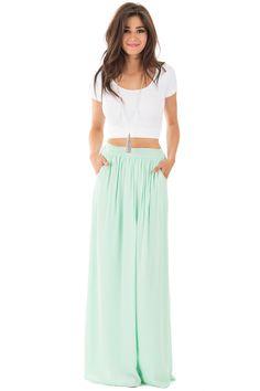 Lime Lush Boutique - Mint Pleated Maxi Skirt with Side Pockets, $39.99 (http://www.limelush.com/mint-pleated-maxi-skirt-with-side-pockets/)#fashion#happy#photooftheday#followme#follow#cute#tagforlikes#beautiful#girl#like#selfie#picoftheday#summer#fun#smile#friends#like4like#pinterestfollowers