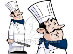 cartoon Chef clipart image – A Courmet Chef clip art stock illustration picture