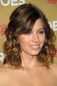 Short hair Ombre Curly Brunette  **Jessica Biel**
