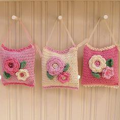 Crochet Lavender Bags          by padleigh,