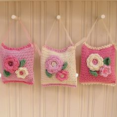 Crochet Lavender Bags          by padleigh,