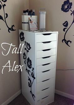 Ikea Alex I cant wait to get this and the shorter oneMakeup Storage Vanity. Ikea Alex I cant wait to get this and the shorter one Make Up Storage, Locker Storage, Storage Ideas, Ikea Storage, Drawer Storage, Drawer Unit, Hair Product Storage, Rangement Makeup, Nail Polish Storage
