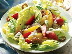 Orange, Strawberry, and Date Salad With Buttermilk Dressing