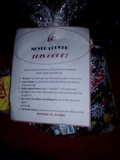 50 års present flashback 40th birthday survival kit! | Gift Ideas | Pinterest | Birthday  50 års present flashback