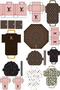 Free Doll Sized Louis Vuitton Printable's – Migues Miniatures Paper Doll House, Mini Craft, Paper Crafts Origami, Miniature Crafts, Miniature Dolls, Diy Dollhouse, Paper Toys, Barbie Clothes, Louis Vuitton