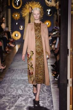 Valentino Fall 2013 Couture Runway - Valentino Haute Couture Collection - ELLE- embroidery on cashmere. love the color wonder where I can find the fabric, I would love this shorter