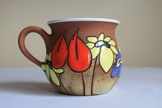 Teacup or Coffee cup with meadow flowers by TerrysPotteryShop, $25.00