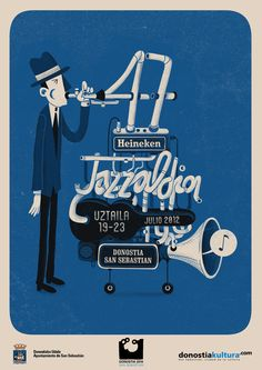 Andres Lozano! Proposal for Jazzaldia Festival poster.