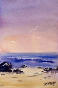Painting in acrylic painting seascapes and oceanscapes for Watercolor scenes beginners