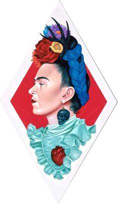 58 Ideas wallpaper frida kahlo love for 2019 Illustrations, Illustration Art, Frida Paintings, Frida Kahlo Portraits, Frida Art, Cute Art, Amazing Art, Pop Art, Street Art